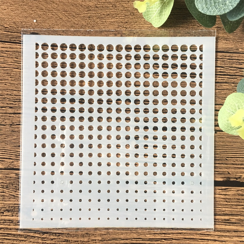 13cm Dot Printed DIY Craft Layering Stencils Wall Painting Scrapbooking Stamping Embossing Album Card Template