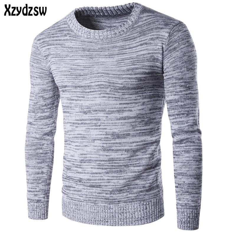 2016 High Quality Casual Sweater Men Pullovers Brand Winter Knitting Long Sleeve O-Neck Slim Knitwear Sweaters For Men M-XXL