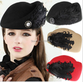 New Direct Selling Solid Adult Wool Hats Mask Women Lady Winter Warm Knitted Crochet Slouch Casual Beret Beanie Hat Cap