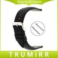 Venda de reloj de 22mm de liberación rápida para asus zenwatch 1 2 hombres WI500Q WI501Q Pebble Tiempo/de Acero Correa de Cuero Genuino Pulsera de la Muñeca