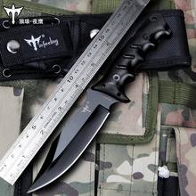 Voltron Self-defense military knife, special forces wild survival knife,  wild outdoor straight knife, hunting camp jungle knife self ordered fronts under oscillating zero mean forces