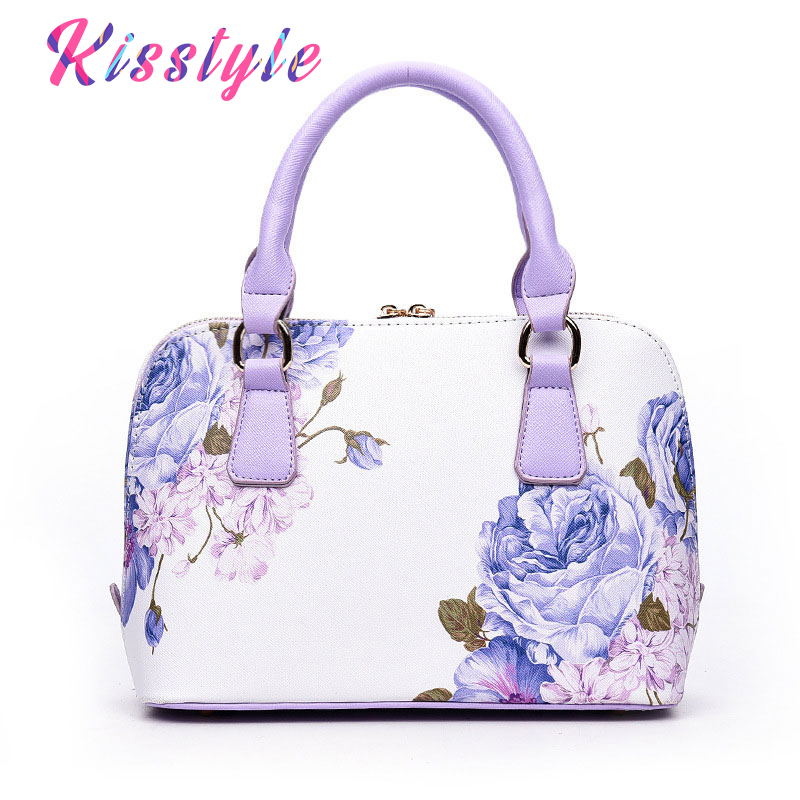 Kisstyle Printed Wome Bags Famous Brand Women Crossbody Bag Sac A Main Small Shell Elegant Floral Female Shoulder Handbags Purse