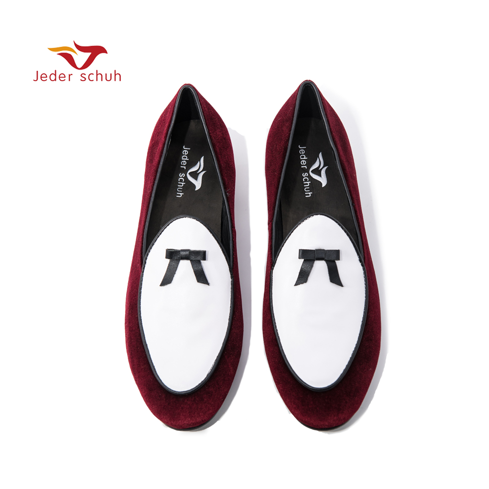 Jeder schuh velvet men handmade loafers Fashion Prom and wedding men's casual shoes men flats цена