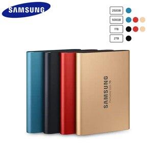Image 2 - Samsung t5 unidades de estado sólido externo portátil ssd 250 GB 500 GB 1 TB USB 3,1 Gen2 ssd externo duro disco duro ssd portátil