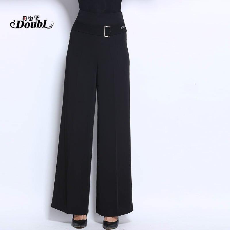 Woman's Adult Latin Dance Pants Long High Waist Broad Leg Trousers Ballroom Performance Dance Practice Clothes Flared Pants H658 1