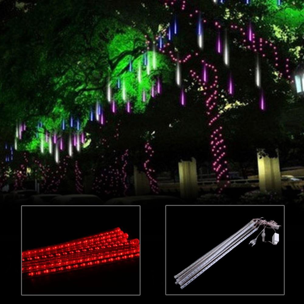 50CM Meteor Shower Rain 8 Tube Waterproof LED String Lights Outdoor Christmas Wedding Party Decoration Lamp EU Plug