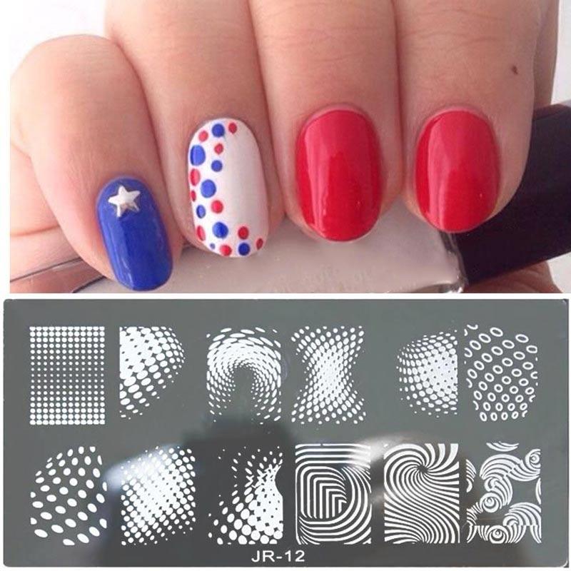 Tira de la moda de Diseño de la Imagen Del Arte Sello Polaco Stamping Manicura D