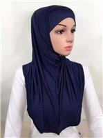 LJ6 модальный Двухсекционный мусульманский хиджаб шарф модный хиджаб оголовье шарф - Цвет: LJ60007