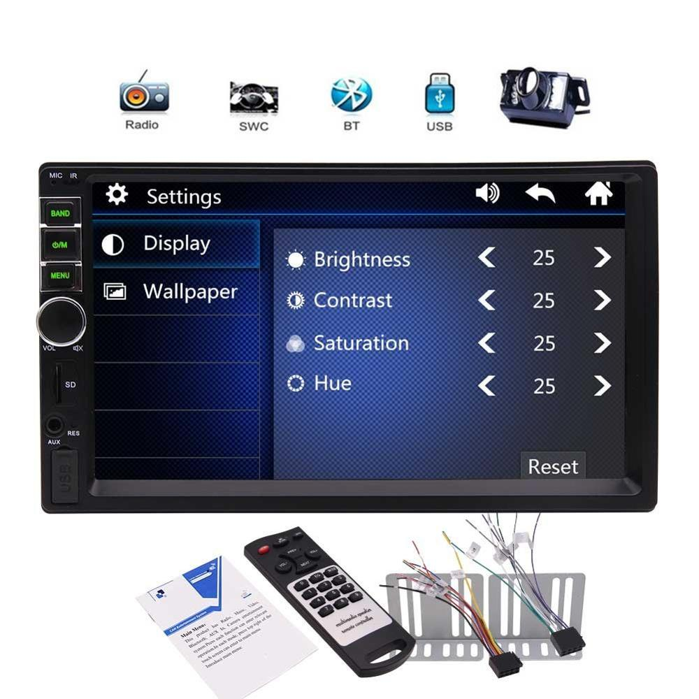 EinCar 7 2 din Bluetooth Car Radio MP5 Player IN dash Video Audio Radio Entertainment Support USB/TF FM Aux input+Rear camera