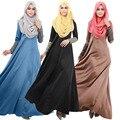 Новые Супер Красивые Мусульманских Женщин Абая Кафтан Платье O-образным Вырезом С Длинным Рукавом Длиной до пола, Ближний Восток Арабские Элегантный Дёилбаба Платья