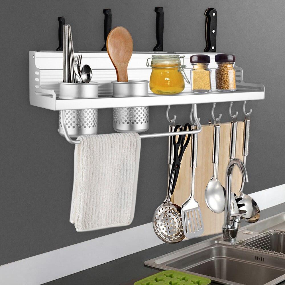 Behogar Aluminum Pantry Cookware Spice Dinnerware Kitchenware Shelf Storage Utensils Cutlery Rack Holder Organizer