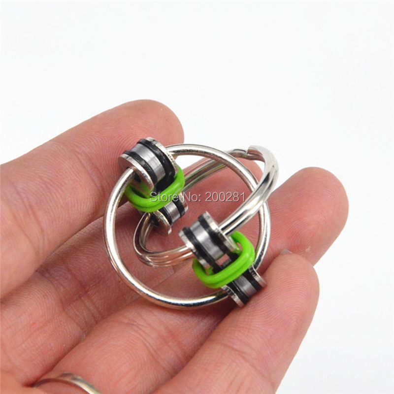Cool Gadgets And Toys : Bicycle chain key rings circle metal silver plated double
