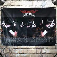 """""""BABYMETAL"""" japoński dziewczyna Rock Mix plakat duży z czterema otworami wiszące tkaniny flagi banery Studio muzyczne Bar Cafe pokój w akademiku wystrój domu"""