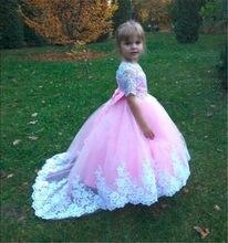 0b33795ac64 Robe de demoiselle d honneur Exclusive et belle pour filles mignonnes robe  rose enfants avec