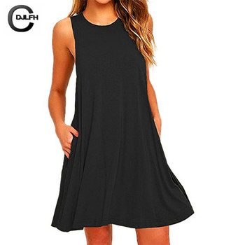 Fashion Sexy A-Line Solid Black Summer Dress Women Mini Boho Party&beach Women Dresses Vestidos Plus Size 1