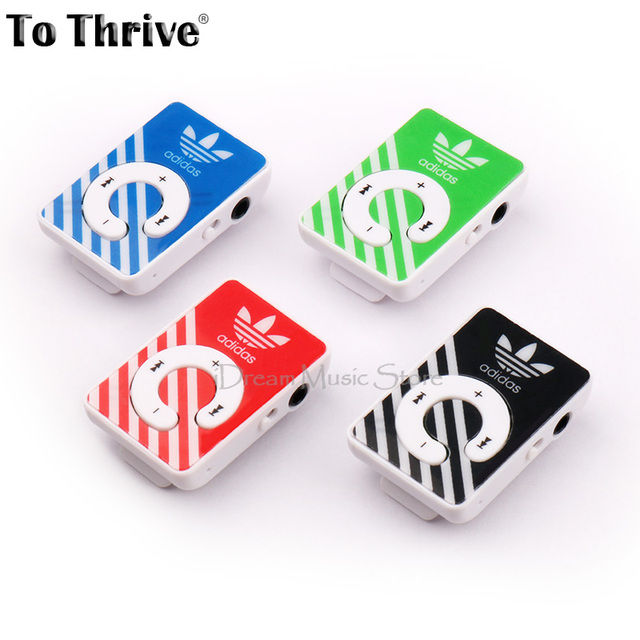 To Thrive Clip MP3 Player No Memory Card Music Player With TF Slot With 4 Colors