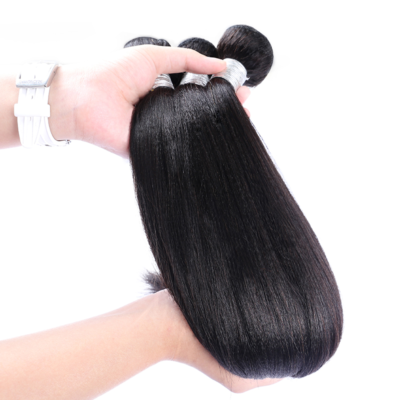 Yaki Human Hair Brazilian Hair Weave Bundles Light Yaki Straight