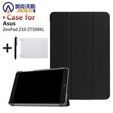 "Ultra delgada de la pu leather case cubierta del soporte para asus zenpad z10 zt500kl 9.7 ""tablet + protector de pantalla de cine + stylus"