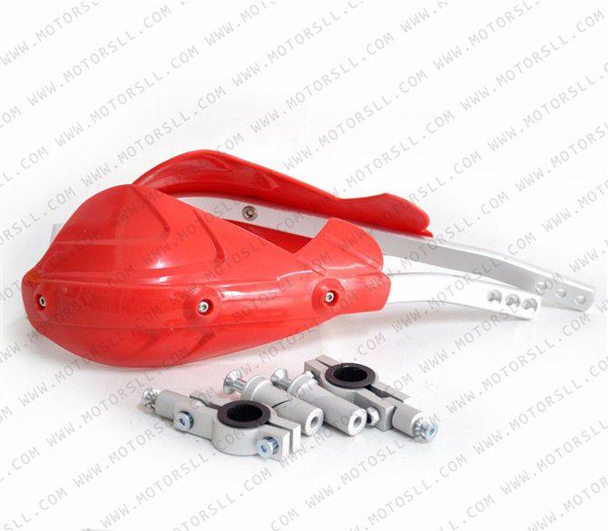 Top rouge Motocross 22mm protège-mains pour moto Dirt Bike ATV CRF KTM YZ KXF450 250 KX125 250 KLX250 KLX450 RMZ KLX