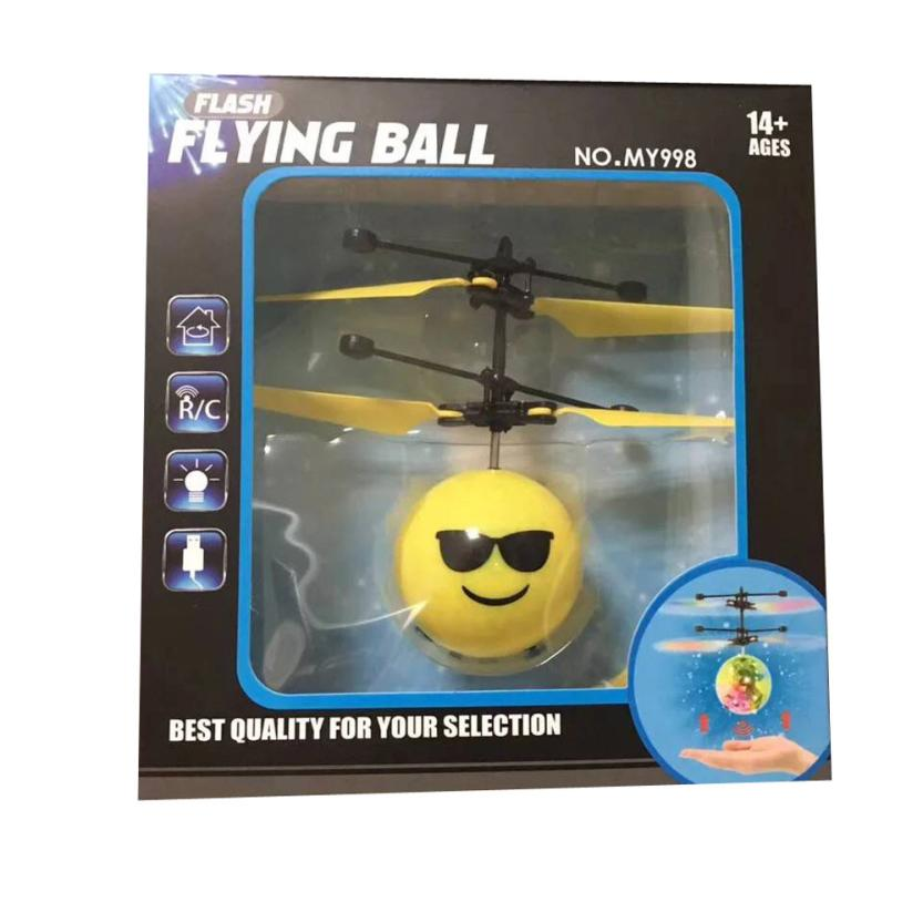 Flash Flying Ball Infrared Induction Colorful LED Disco RC Helicopter Toy TX