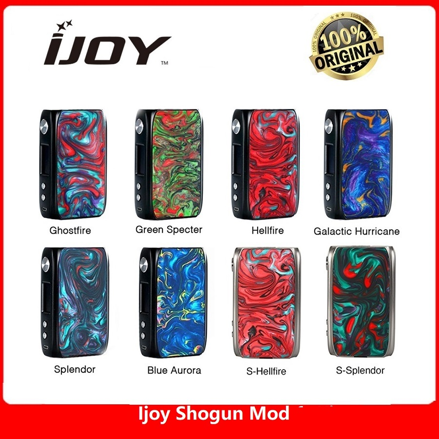 Original IJoy Shogun Univ 180W Box Mod Powered By Dual 18650 Battery Vape Mod Vape Vaporizer