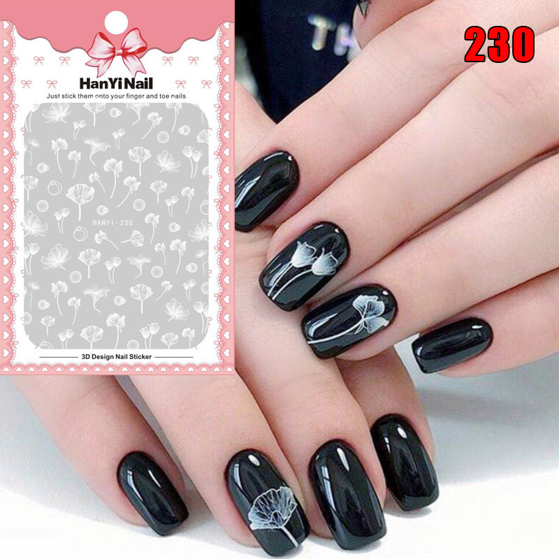 1 Sheet Nail Art Sticker 3D Flower Water Decal Slider Wraps Manicure Nails Decor SK88 image