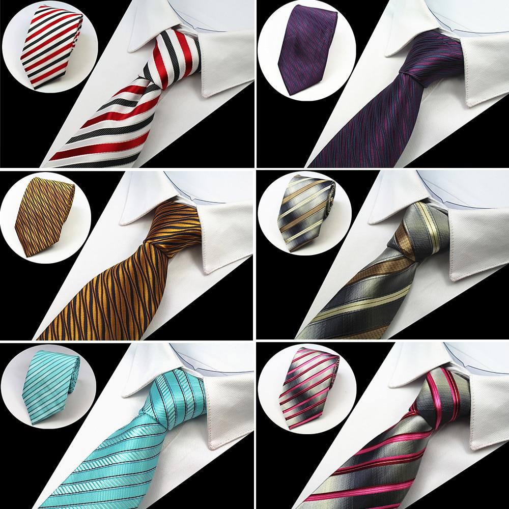 "RBOCOTT גברים קלאסי עניבות 8 ס""מ עניבה כחול פסים עניבה שחור פרחוני צוואר עניבה צהוב & סגול & כסף עבור עסקים חתונה אדומה"