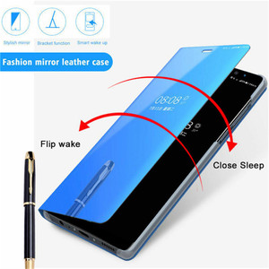 Image 2 - For OPPO F5 F7 F9 F11 Mirror Flip Leather Case for A3S A5 A5S A7 AX5 A11X A9 2020 Reno Z 2Z 2F Realme 3 5 C2 A1K Ace X2 Pro