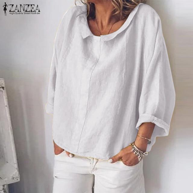 Summer Tunic Vintage Linen Blouse 2