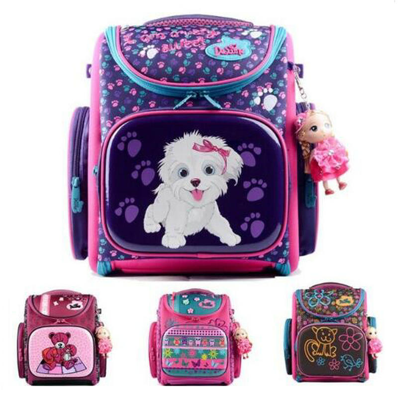 Delune 2018 New European Children School Bag