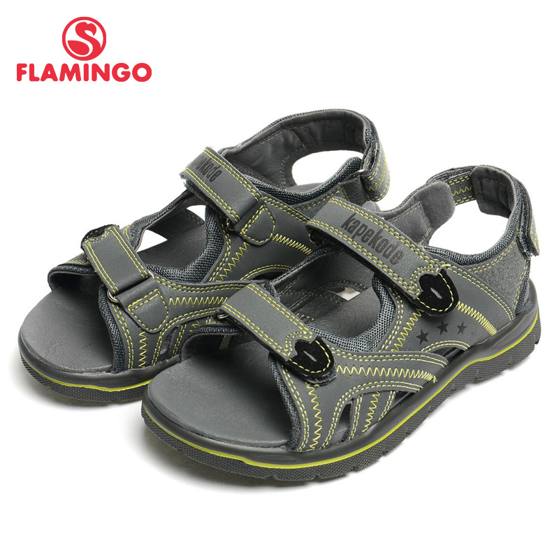 FLAMINGO 2016 new arrival summer kids shoes fashion high children sandals for boy FX4332
