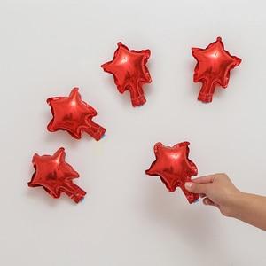 Image 3 - סיטונאי 10 יח\חבילה 5 אינץ כוכב בלון ססגוני חמוד כוכב רדיד בלונים שמח יום הולדת קישוט חתונת ציוד