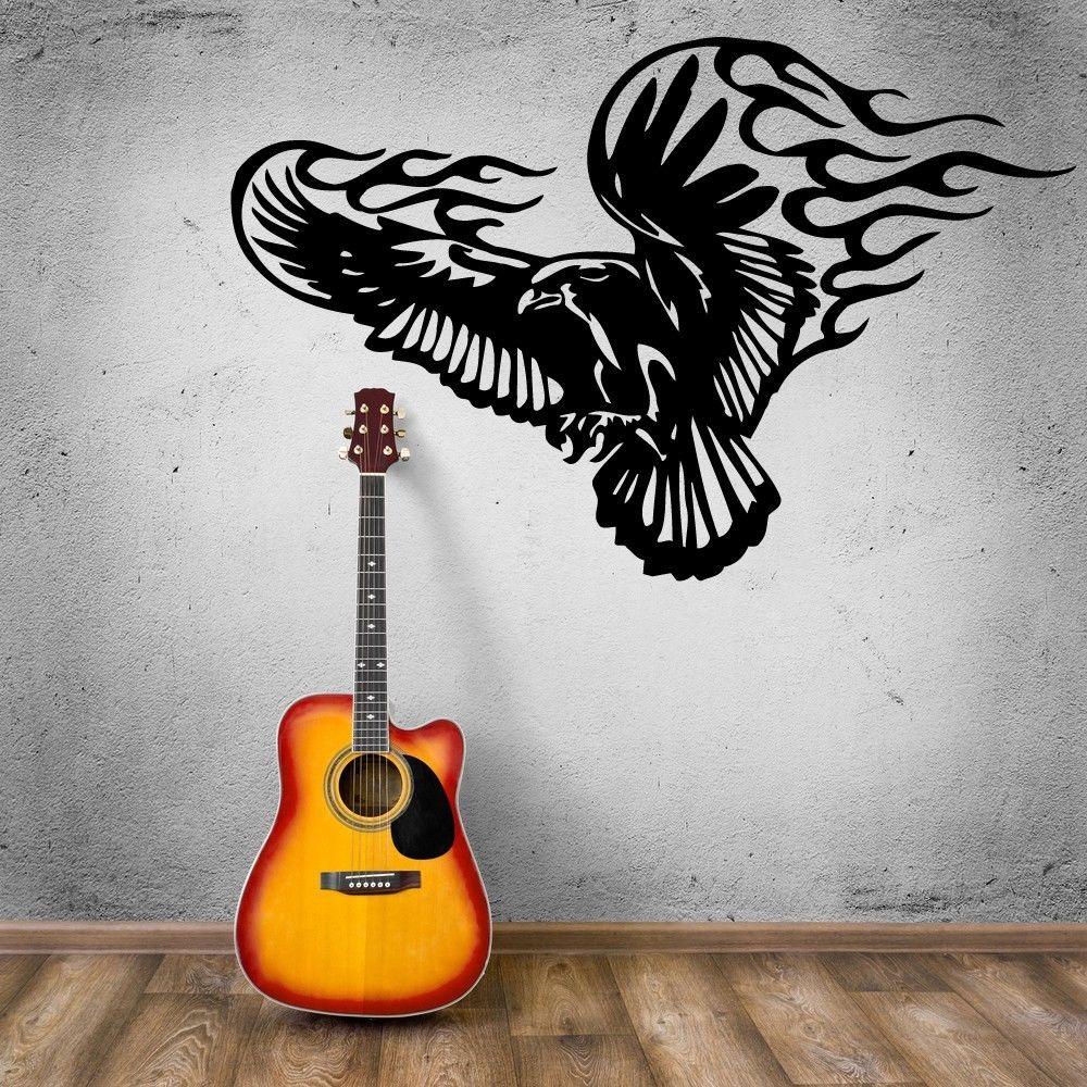 Dinding Stiker Vinyl Decal Elang Bird Tattoo Tribal A817 Mata Kucing Cat Eye Mt03 For Mt25