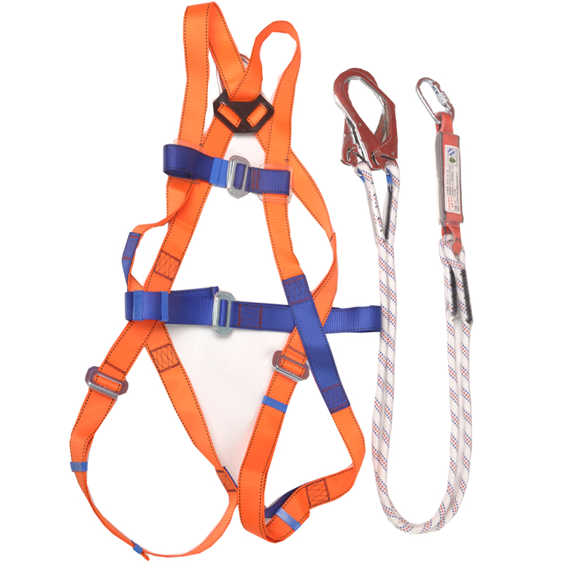 European-style full body five-point high-altitude safety belt Human body safety rope, double-rope hook structure, buffer packageEuropean-style full body five-point high-altitude safety belt Human body safety rope, double-rope hook structure, buffer package
