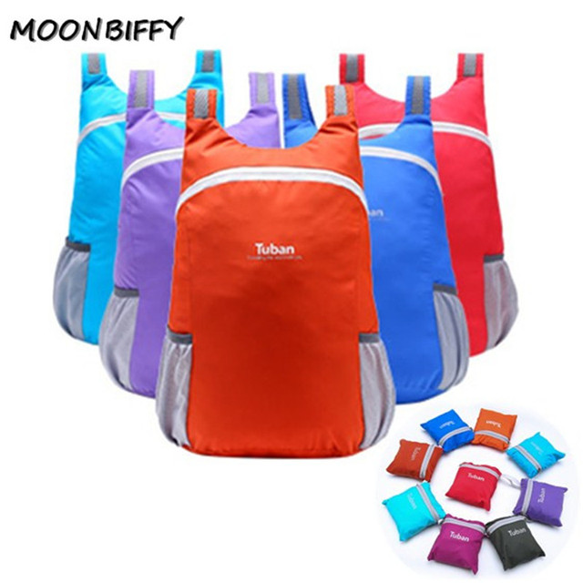 Lightweight Nylon Waterproof Folding Backpack Men Women