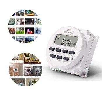 SINOTIMER AC 220 V tygodniowy 7 dni programowalny cyfrowy wyłącznik czasowy z przekaźnikiem regulator czasowy do montażu na szynie Din do urządzenia elektrycznego