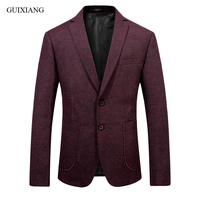2018 new arrival style men high end boutique woolen balzers high quality business casual men's slim solid suit coat size S 2XL