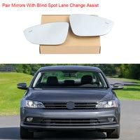 European Blind Spot Lane Change Assist Heated Left Right Side Rearview Wing Mirror Fit For VW Jetta MK6 Passat B7 CC EOS Beetle