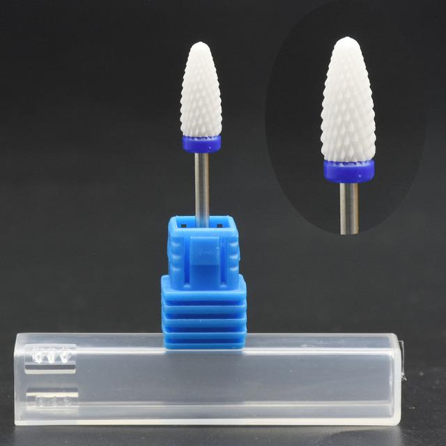 Jewhiteny Ceramic Nail Drill Bit Mill Cutter For Electric Drill Manicure Machine Device Accessory Remover Acrylic