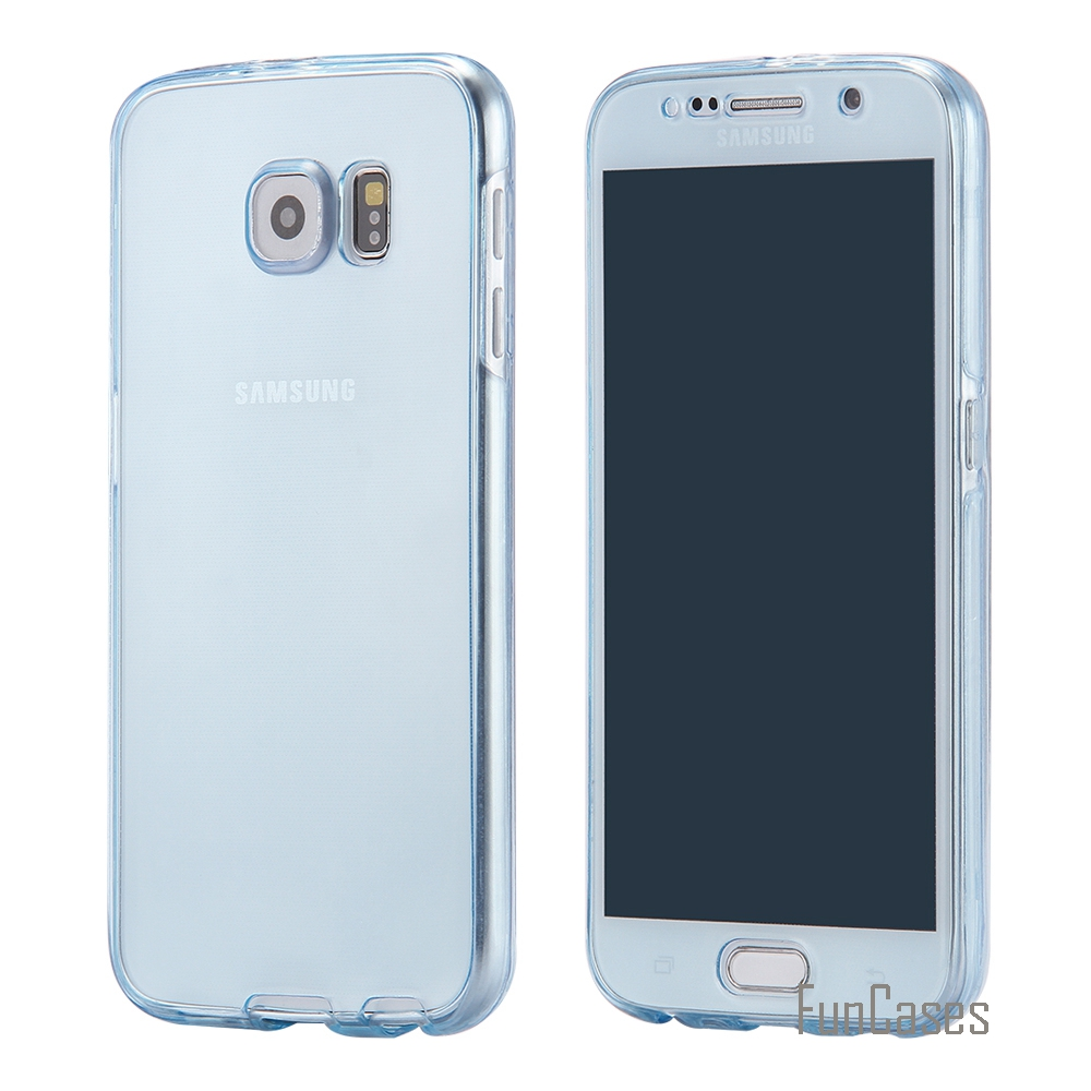 For Samsung Galaxy S7 Ultra Slim Transparent Case Full Coverage 360 Protective Soft TPU Cover Luxury Gel Capa for Galaxy S7 2016