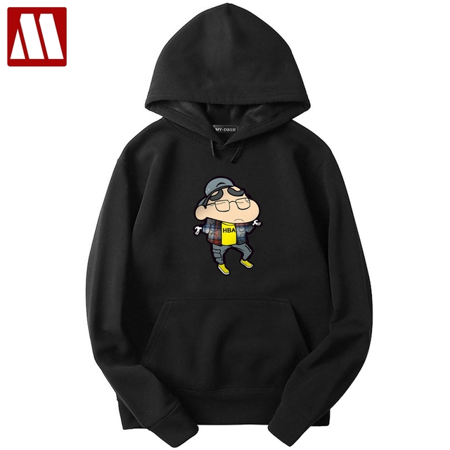 aed5a998 New High-End Casual Hoodie Mens Fashion Crayon shin-chan Unique Korean  Style Long