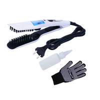 New Arrival 110 240V Steam Straightener Brush Wet Dry Ceramic Electric Hair Straightener Comb Fast Straightening Hair Irons