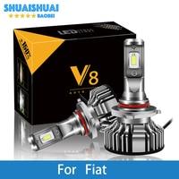 2 Pcs Car Headlight For Fiat Uno/Punto/Stilo/Panda/Albea/Linea/Idea/500L H7 H4 LED H1 H7 H3 9005 6500K 8000LM CSP Light Bulb