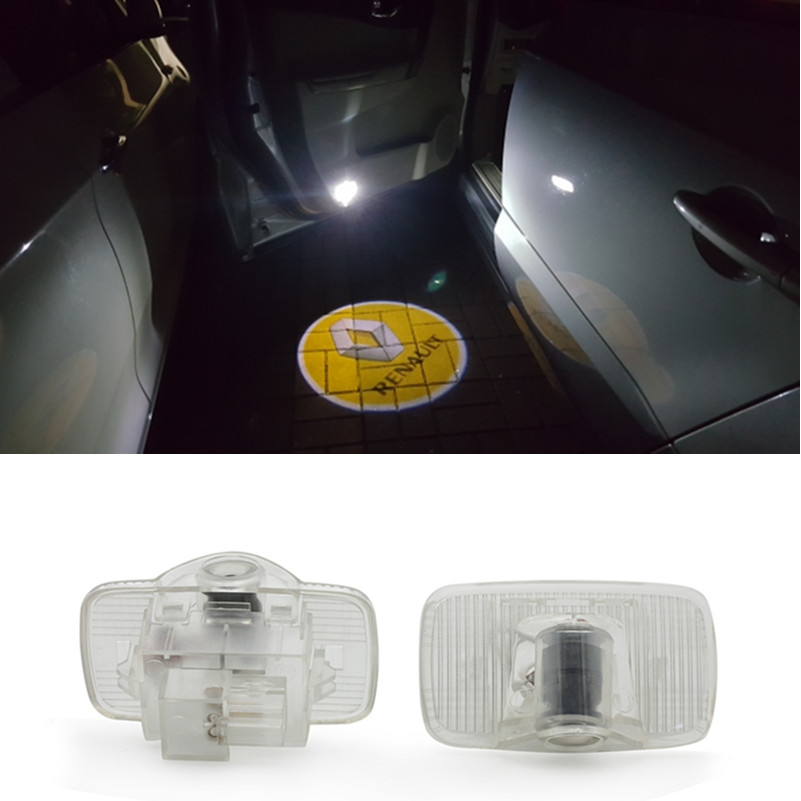 For <font><b>Renault</b></font> Koleos 2009-2018 car accessories <font><b>Logo</b></font> Door Welcome Light Car <font><b>LED</b></font> Projector Laser image