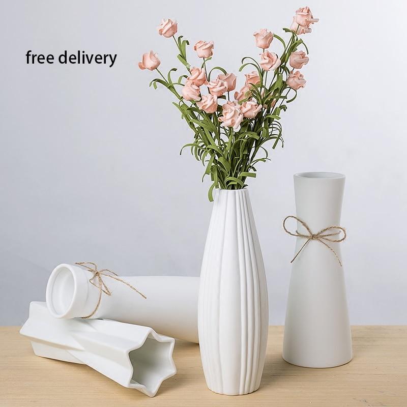 Ceramic Vase High Quality Living Room Bedroom White