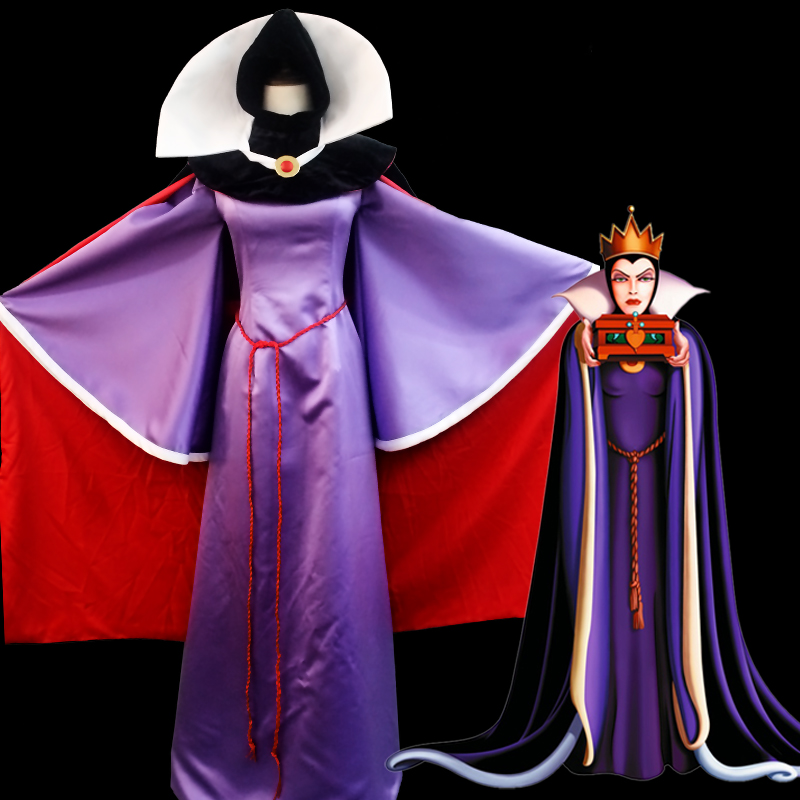 Ainiel Custom Made Princess Snow White Queen Evil  Cosplay Costume Girls  Women Halloween and Party Dress