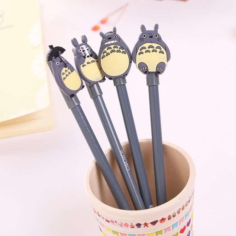2018 New hot sale Creative cartoon gel pen Cute Totoro black pens School student office stationery wholesale birthday present