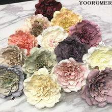 YOOROMER 5PCS Peony Flower Heads Decorative Scrapbooking Artificial For Home Wedding Birthday Party Decoration Supplies