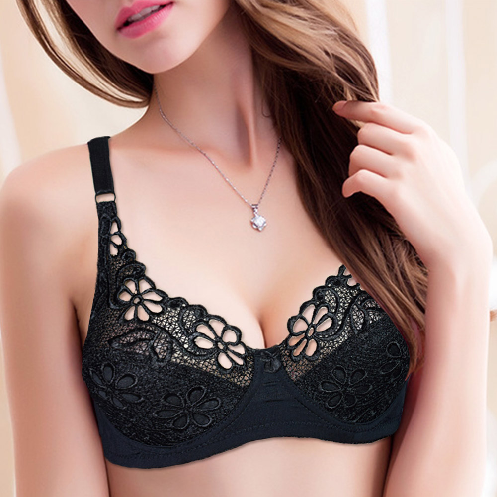 1dc0726b95834 Large Size Bra For Women Underwire Perspective Push up Bras Sexy Women  Underwear Embroidery Lingerie Brassiere BH Top A B C D -in Bras from  Underwear ...