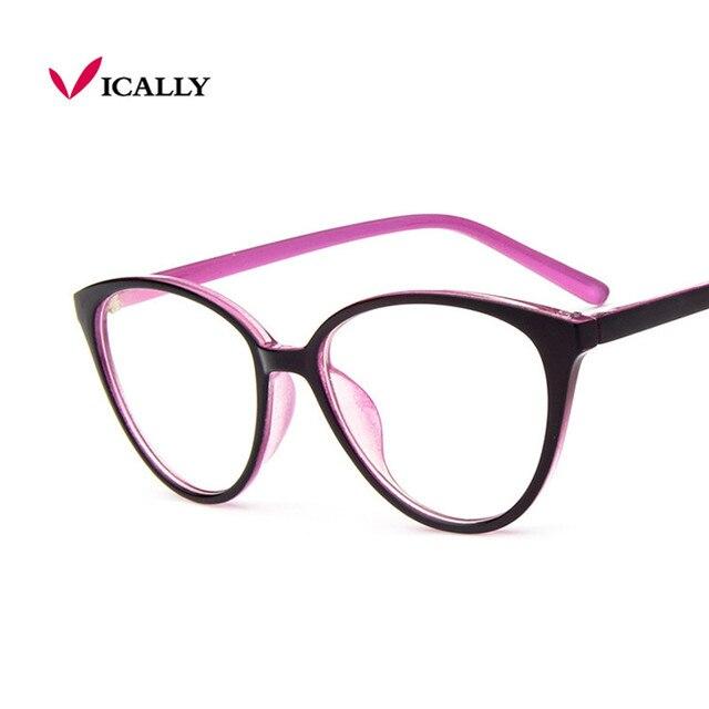 a66f81d7a5cca Fashion Women Cat Eye Eyeglasses Frame Men Optical Glasse Frame Retro  Eyeglasses Computer Glasses Transparent glasses